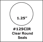 1.25 inch Round Clear Circle Tab Seal Label Sticker 500 125CIR
