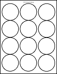 Matte White Printable Sticker Labels 100 Sheets 2.5 Inch Round 4200M