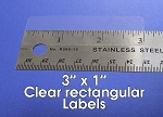 Clear Seal Sticker Labels 3 x 1 Inches 500 per roll 31CLR