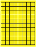 Fluorescent Yellow 1 Inch Square Labels 50 Sheets 80 per Sheet 1X1Y