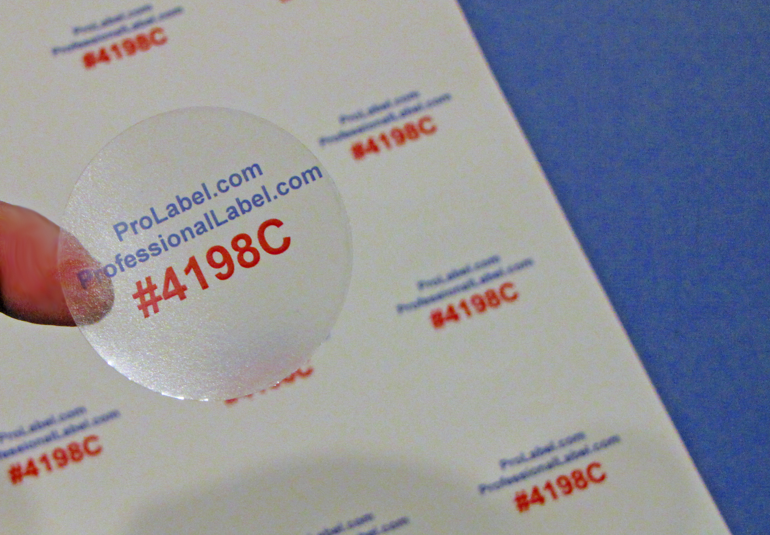 Glossy Clear Labels 100 Sheets 2 Inch Round Printable