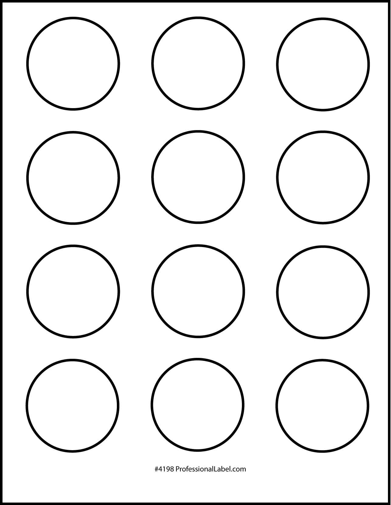 Lively image pertaining to 2 inch circle template printable