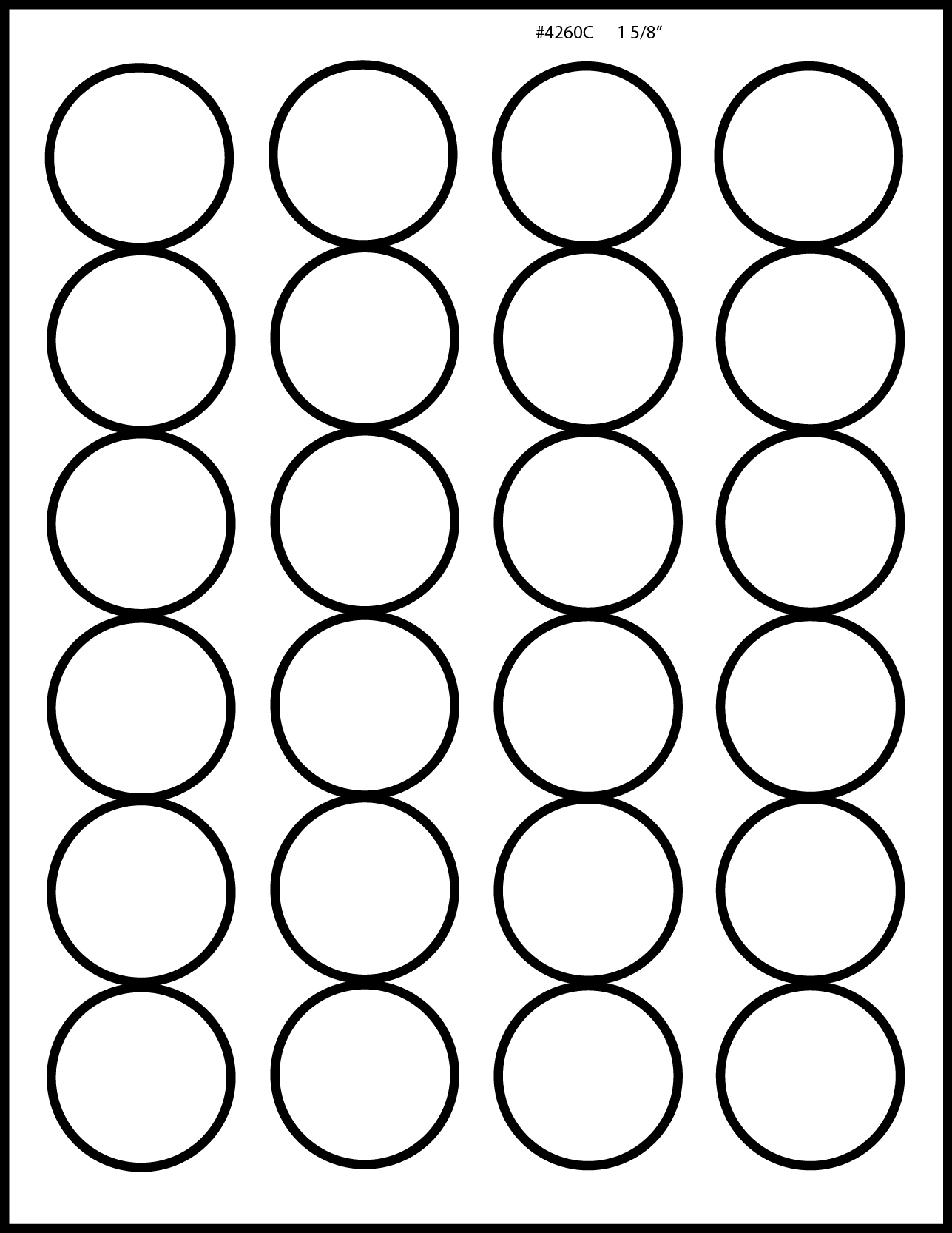 matte clear laser printable labels 1 5 8 inch round 50 With clear round printable stickers