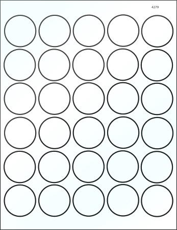 Round 1 1 2 Inch White Glossy Laser Printable Labels 50