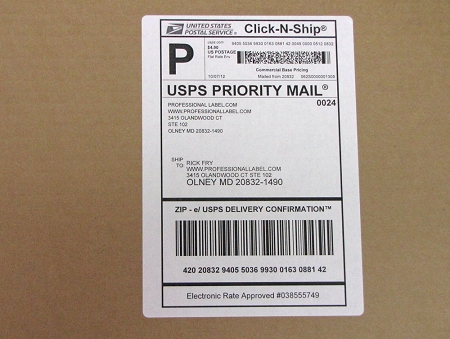 Click N Ship Shipping Mailing Address Labels With Receipt