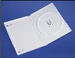 White DVD Standard Size Cases with Clear Sleeve 100 DVDWT
