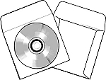 CD DVD Blu-ray Tyvek Sleeves with Window and flap 1000 TYFCD