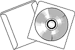 CD DVD Blu-ray Paper Sleeves with Window no flap #WPCD
