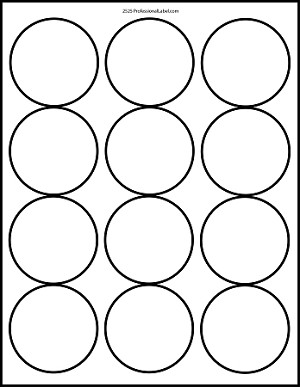 Matte white printable sticker labels 100 sheets 25 inch for Half inch round labels
