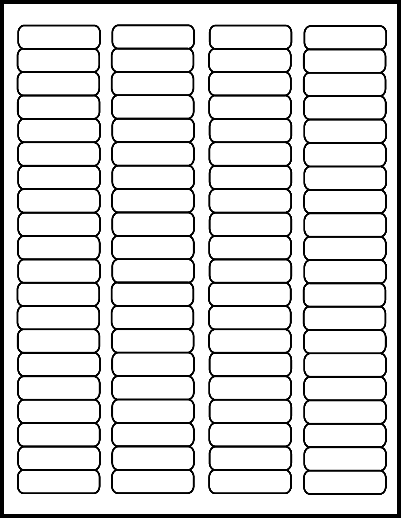 graphic regarding Printable Labels Sheets identify Very clear Matte Laser Printable Labels 1 3/4 x 1/2 inch 50 sheets #1705CM
