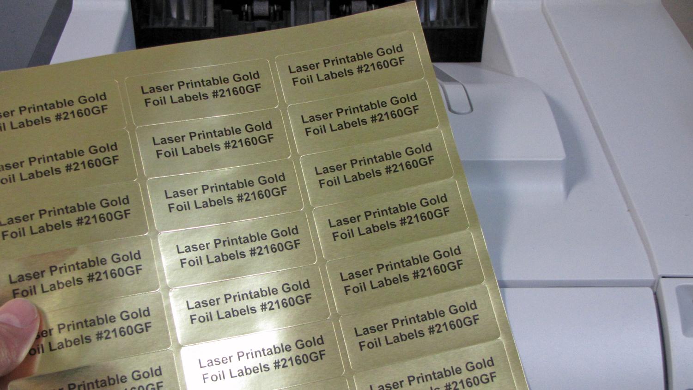 picture relating to Printable Gold Foil identify Gold Foil 2 5/8 x 1 Laser Labels Steel Comprehensive 50 sheets 2610GF
