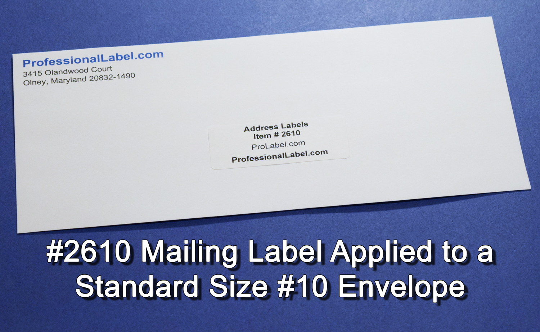 Address Labels Matte White 2 5/8 x 1 30 up 25 sheets #2610