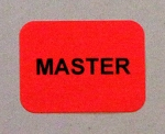 MASTER Stickers 288 labels on sheets 3/4 x 1 inch 341Master