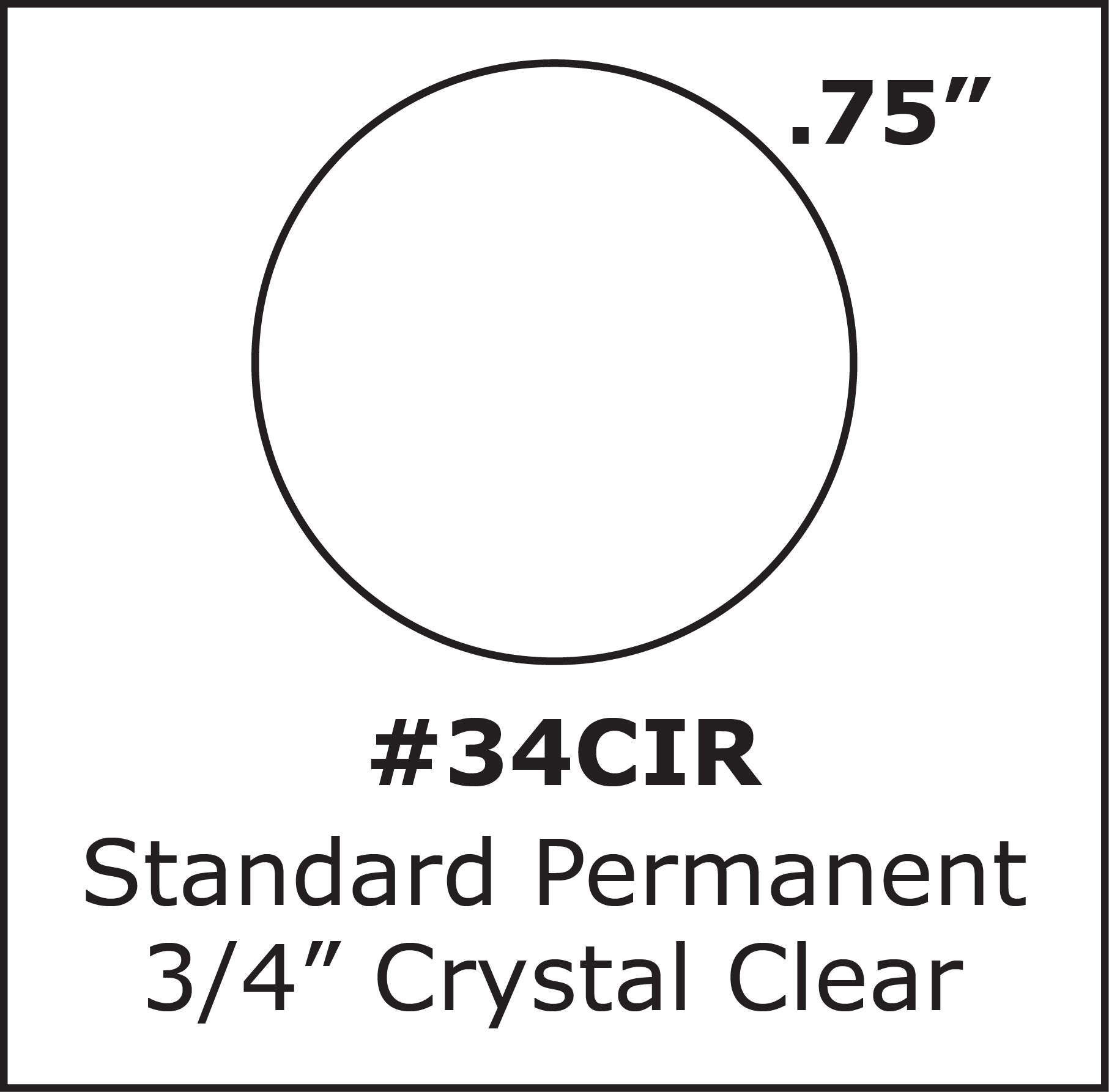 75 inch 3 4 inch round clear seal label sticker 500 roll 34cir