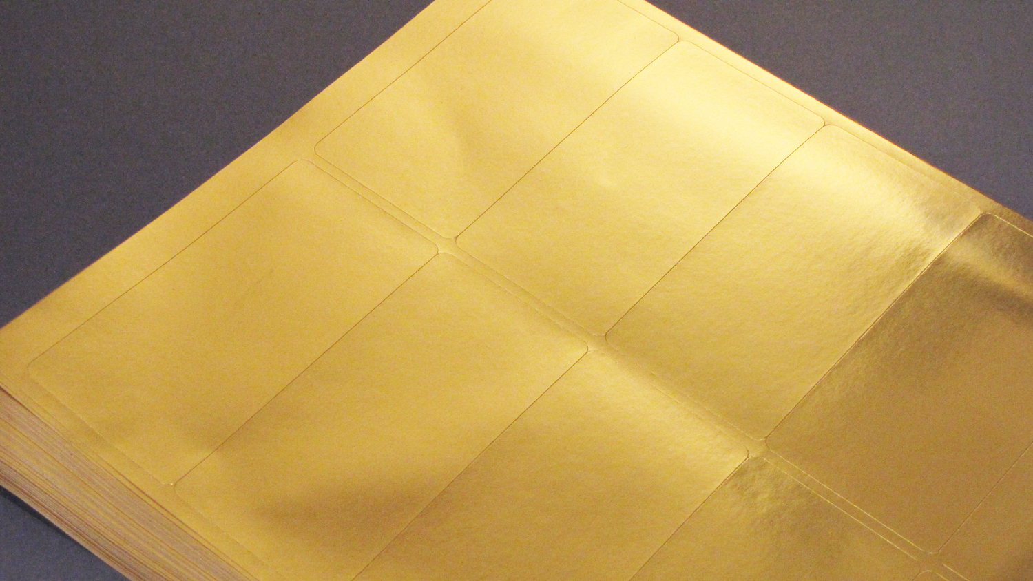 4 x 2 Gold Foil Labels for Lasers 25 sheets 4020GF