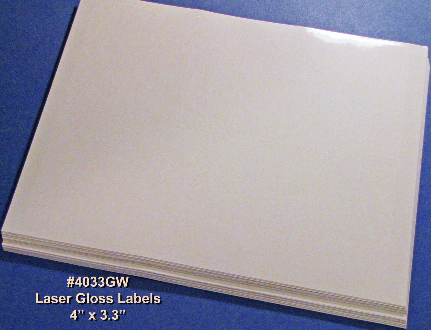 4 X 3 1 3 Inch Labels Laser Glossy White 50 Sheets 4033gw