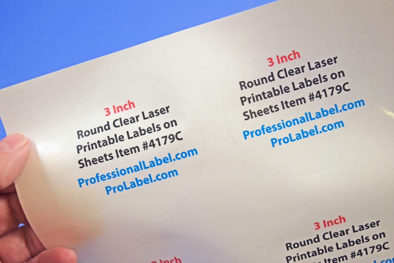 picture regarding Printable Clear Labels titled 3 inch Spherical Distinct Shiny Laser Printable Labels 50 Sheets 4179C