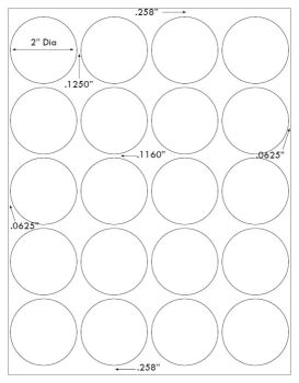 graphic regarding Printable Stickers Labels identified as 2 inch Spherical White Matte Stickers Laser Inkjet Printable Labels 50 Sheets 4220M