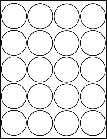 picture relating to Circle Printable Stickers titled 2 inch Spherical White Matte Stickers Laser Inkjet Printable Labels 50 Sheets 4220M