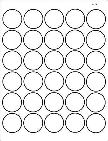 photo relating to Printable Stickers Round named Spherical 1 1/2 inch White Shiny Laser Printable Labels 50 Sheets 4279GW