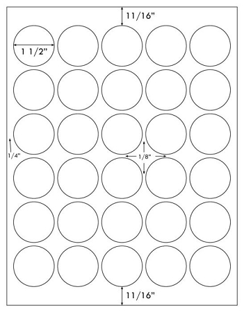 picture regarding Printable Circle Labels known as Obvious Matte Laser Printable Spherical 1 1/2 inch Labels 50 Sheets 4279CM