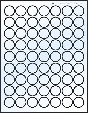 picture relating to Printable Circle Labels named Shiny Very clear Printable Sticker Labels 100 Sheets 1 Inch Spherical 4300C