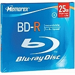 Memorex Blu-Ray Disc 4x speed 25GB BD-R 1 disc 034707978508