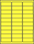 2 5/8 x 1 Fluorescent Yellow Labels  50 sheets C2610