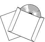 CD DVD Blu-ray 12 Point Cardstock 250 Sleeves 12PTS
