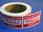 FRAGILE HANDLE WITH CARE Sticker Labels 500 3 X 2 #FRAGILE32R