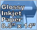 32lb Legal Size Photo Gloss Inkjet Paper 8.5 x 14 200 Sheets 8504JG