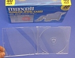40 Maxell Slim line Thin CD DVD Clear Jewel Cases #190074