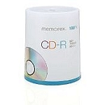 Memorex CD-R 100 blank discs pack 52x 700mb CDs