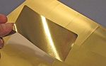 4 x 2 Gold Foil Labels for Lasers 50 sheets 4020GF