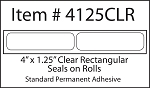 Clear Seal Sticker Labels 4 x 1 1/4 Inches 500 per roll FREEZER4125CLR