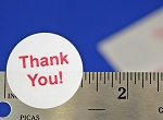 THANK YOU Glossy White Stickers 480 Labels 1.25 Inch Round #4292TYGW