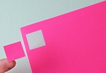 Fluorescent Pink 1 Inch Square Labels 50 Sheets 80 per Sheet P1X1