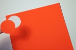2 Inch Red Fluorescent Labels 50 sheets #R4220