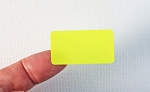 Fluorescent Yellow Labels 1 5/8 x 7/8  50 sheets C15878