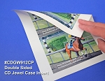 CD Jewel Case LASER Glossy Front Inserts 25 sheets CDGW912CP