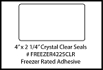 Clear Seal Sticker Labels 4 x 2.25 Inches 500 per roll FREEZER4225CLR