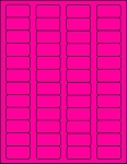 Fluorescent Pink Labels 1 5/8 x 7/8  50 sheets P15878