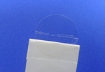 .75 inch  Clear High Frequency Perforated Sticker 500 roll 34CIRHFP