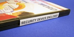 DVD Case Security Device Enclosed Labels 500 114SDE