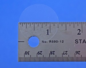 1 1/4 Round Clear Label 1.25 inch Seal Roll of 500 125CIR