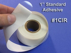 "One inch 1"" Round Clear Circle Seal Label Sticker 500 roll 1CIR"