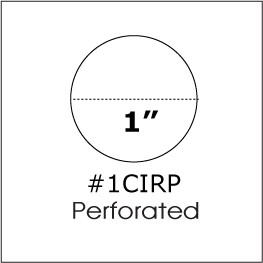 "One inch 1"" Round Clear Seal Label Perforated 500 roll 1CIRP"