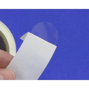 "One inch 1"" Repositionable Clear Labels Removable 500 roll 1CIRRM"