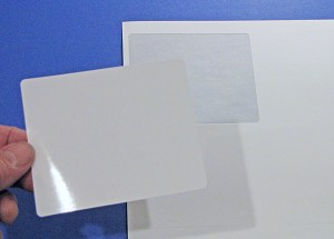 4 x 3 1/3 Shipping Labels Inkjet Glossy White 50 sheets 4033JG