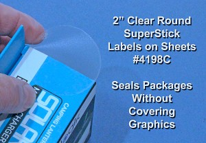 Glossy Clear Labels 25 Sheets 2 Inch Round Printable Stickers 4198C